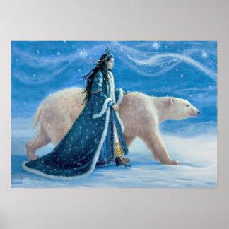 Poster L'ours blanc et la princesse de neige