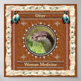 Poster Loutre - copie d'affiche de médecine de femme