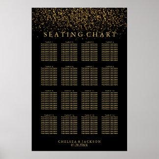 Poster Lumière à la mode d'or sur le noir - diagramme