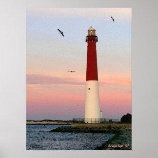 Poster Lumière de Barnegat, île de Long Beach, affiche de