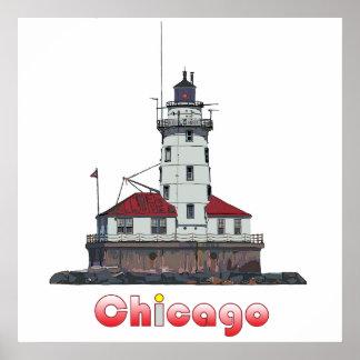 Poster Lumière de port de Chicago