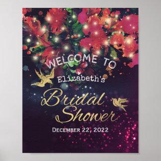 Poster Lumière florale de ficelle de Bourgogne d'accueil