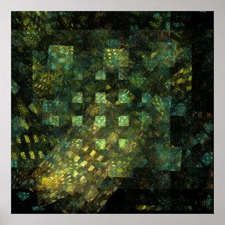 Poster Lumières dans la copie d'art abstrait de ville