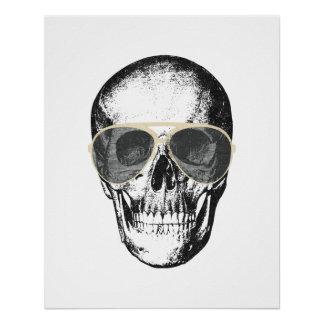 Poster Lunettes de soleil froides de cru de crâne