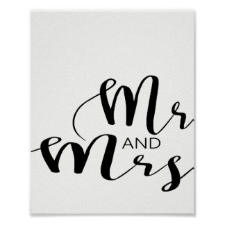 Poster M. et Mme Wedding Print