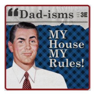 Poster MA maison MON affiche de règles
