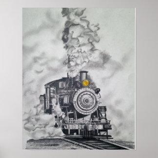 Poster Machine à vapeur