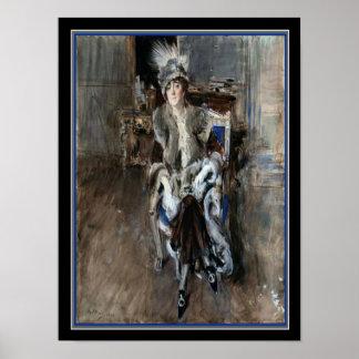 Poster Madame Lacroix par Boldini 12 x copie 16