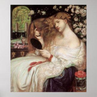 Poster Madame Lilith par Rossetti, Portait victorien