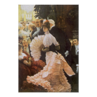 Poster Madame politique par James Tissot, cru victorien
