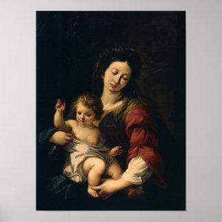 Poster Madonna et enfant
