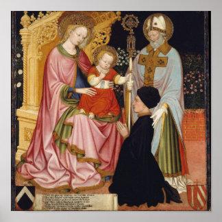 Poster Madonna et enfant avec le donateur