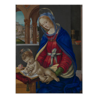 Poster Madonna et enfant, circa 1483-4