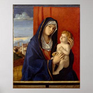 Poster Madonna et enfant, circa 1485