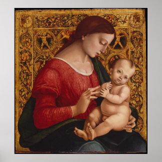 Poster Madonna et enfant, circa 1505-07
