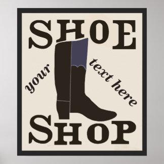 Poster Magasin de chaussure personnalisé