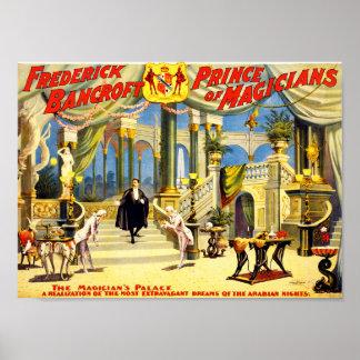 Poster Magicien vintage Frederick Bancroft