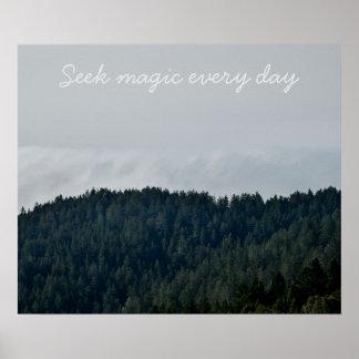 Poster Magie de recherche chaque jour