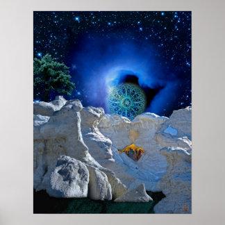 Poster Magie de réveillon de Noël