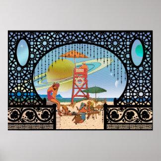 Poster Magrathea se levant des pavillons d'Utopie