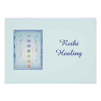 Poster Mains curatives de Reiki