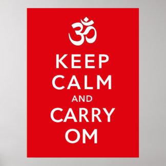 Poster Maintenez calme et portez le moral de motivation