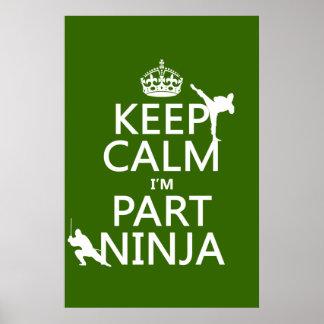 Poster Maintenez calme je suis partie Ninja (dans toute