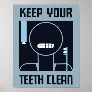 Poster Maintenez vos dents propres -- WPA