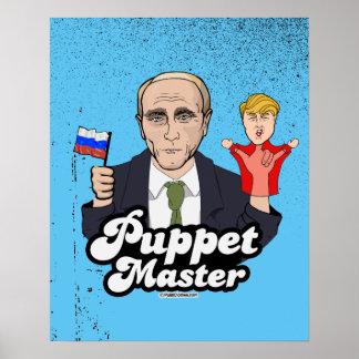 Poster Maître de marionnette d'atout - Vladimir Poutine