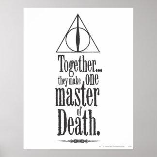 Poster Maître du charme   de Harry Potter de la mort