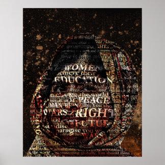 Poster Malala - tout I Want est une éducation ! Affiche