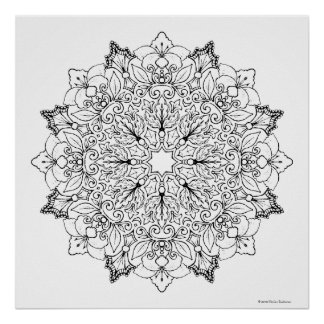 Poster Mandala 1-63 de livre de coloriage