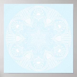 Poster Mandala arctique