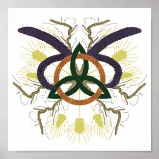 Poster Mandala celtique