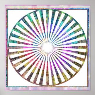 Poster Mandala cosmique de rythme de Celicial d'armure de