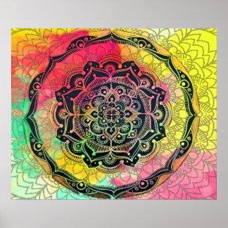 Poster Mandala d'arc-en-ciel