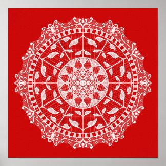 Poster Mandala de cerise