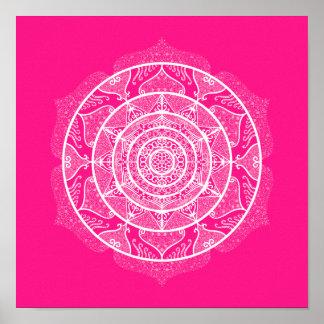 Poster Mandala de digitale