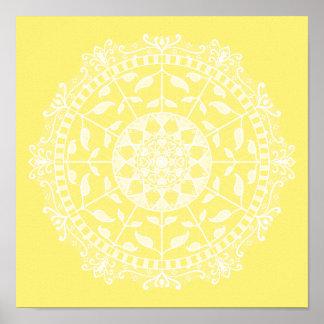 Poster Mandala de fruit d'étoile