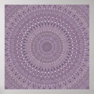 Poster Mandala pourpre en pastel