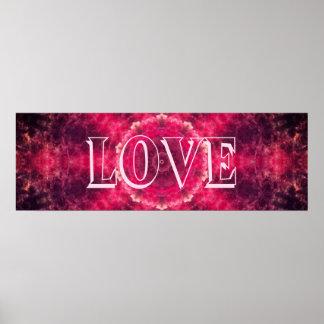 Poster Mandala rose d'amour