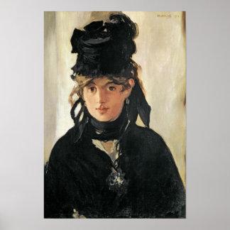 Poster Manet | Berthe Morisot avec un bouquet des