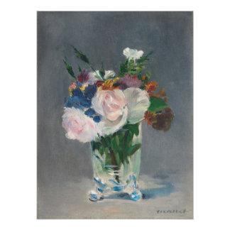 Poster Manet | fleurit dans un vase en cristal, c.1882