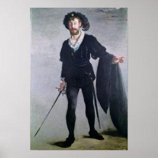 Poster Manet | Jean Baptiste Faure comme Hamlet, 1877