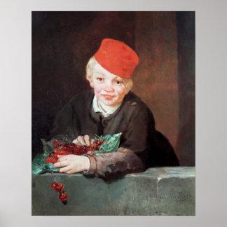 Poster Manet | le garçon avec les cerises, 1859