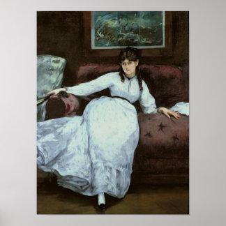 Poster Manet | le repos, portrait de Berthe Morisot