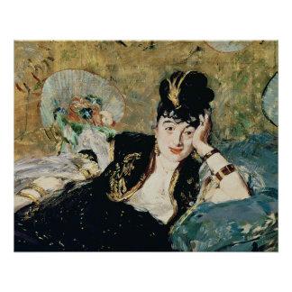 Poster Manet | Madame avec des fans