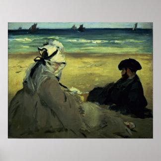 Poster Manet   sur la plage, 1873