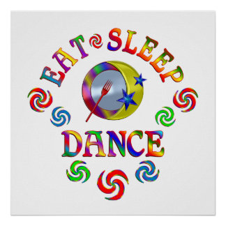 Poster Mangez la danse de sommeil