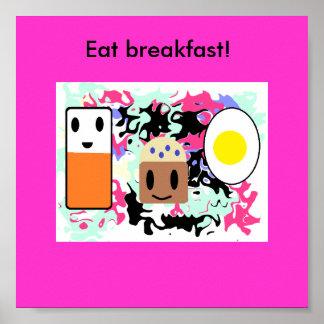 """Poster """"Mangez le petit déjeuner ! """""""